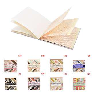 "7"" Paper Patterns Book for Scrapbooking, Crafts, Etc"