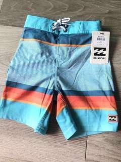 全新男童Billabong短褲 沙灘褲 游泳褲