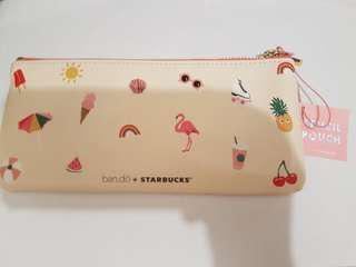 bando×starbucks夏日風情筆袋