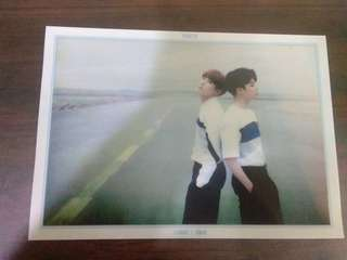 BTS Youth Limited Edition JHope and Jimin mini clear poster