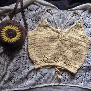 bloom camisole (crochet top)