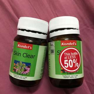 Kordel's Skin Clear Supplement #50under