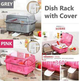 Dish rack with cover