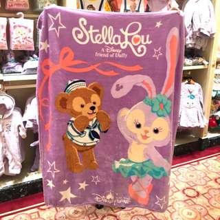 全新保證正品香港迪士尼史黛拉&達菲毛毯 只有一個
