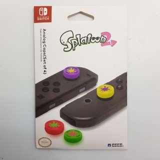 🚚 [In Stock] Splatoon 2 Edition Nintendo Switch JoyCon Thumbgrip Set