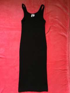 Divided Black Bodycon Dress