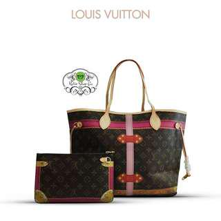 LOUIS VUITTON NEVERFULL - LV NEVERFULL TOTE BAG WITH POUCH SET