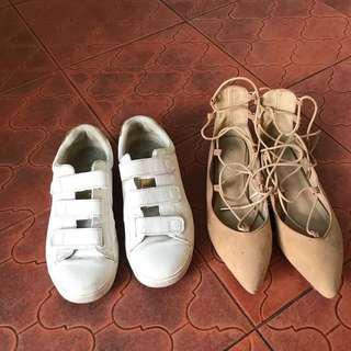 H&M sneakers and Parisian flats