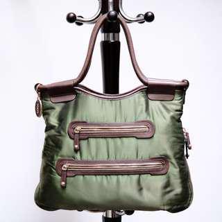 Tod's Shoulder Bag Olive Green Original Second