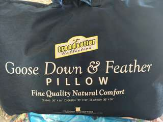 Trendsetter Collection 100% Goose Down and Feather Pillow