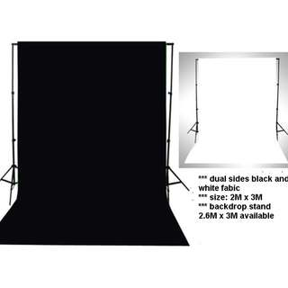2 in 1 backdrop cloth black and white cloth
