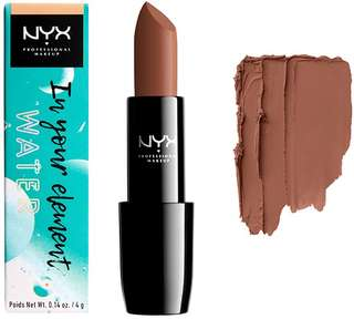 NYX lipstick in your element water matte nude