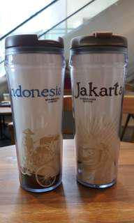 Authentic Starbucks Tumbler Indonesia and Jakarta edition