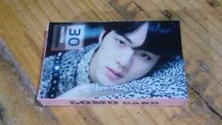 BTS Jin Lomo Card