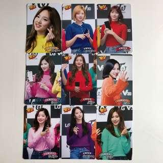 Twice Yes! Card 專輯卡 Part3 白卡 T337-345