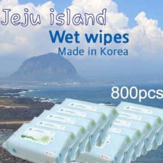 FREE QXPRESS COURIER - SUPER CARTON SALE! Cheapest Jeju Island Wet Wipes (Refill Type)- Made in Korea- Fresh Stock [Made in Mar 2019]