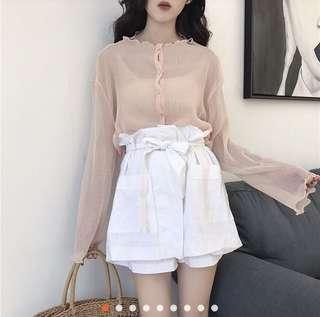 🚚 珊瑚粉 罩衫