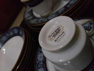 Authentic Noritake Contemporary Blue Haze w/ Pattern Number 20/005