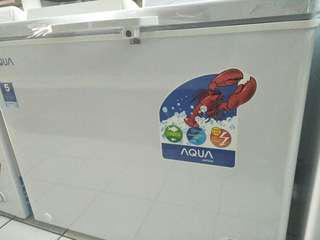 Freezer Aqua all ukuran bisa kredit tanpa Dp
