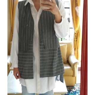1set Kemeja putih + vest