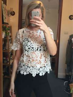 Sabo skirt lace tshirt