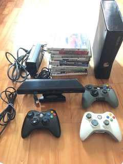 Xbox360 250G+Kinect +hdmi線+11片光碟