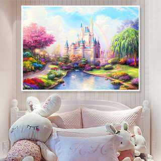 DIY [Rainbow Castle] Full Diamonds Painting (Size:55x45cm)