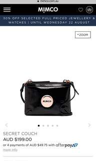 Mimco couch crossbody/ clutch bag