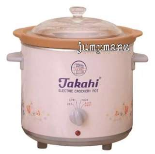 Takahi 3102 Slow Cooker 1.2L Pink (FREE DELIVERY, Brand New)