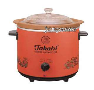 Takahi 3102 Slow Cooker 1.2L Red (FREE DELIVERY, Brand New)