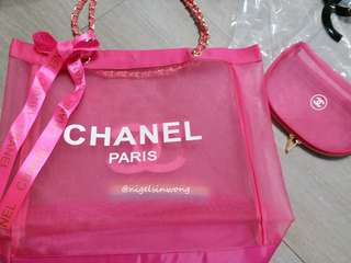 🎀New collection chanel gift for make up chain bag 網紗袋