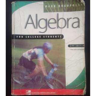 Algebra 2nd Edition McGraw Hill International Edition by Mark Dugopolski