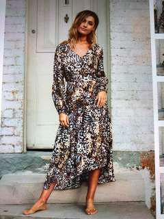 Woman's animal print dress