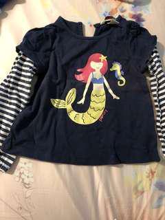 PL poney mermaid Long sleeves tee (2-3Y)