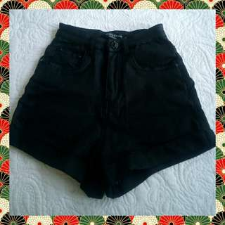Authentic Country Denim Black Shorts