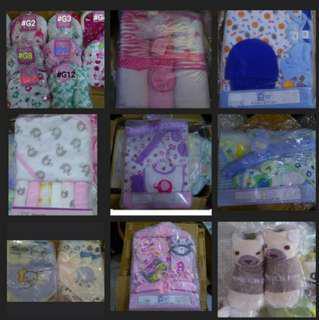 BN Baby Gift Set, nursing pads, baby bib, towels, swaddle, mittens,socks