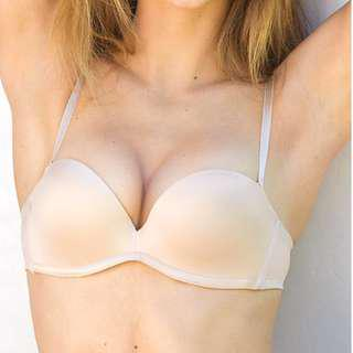 Up bra Nude Ultimate Pushup Convertible or Strapless Adjustable Cleavage Lift