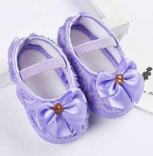 PreWalker Soft Sole Baby Shoes - Purple Princess