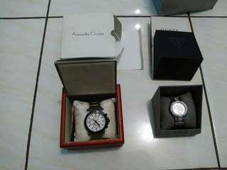 Dijual jam tangan pria Alexandre Christie & jam tangan wanita Guess