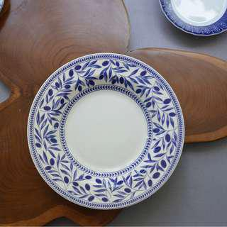 Blue and White Deep Plate Made in Italy 22 cm.