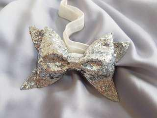 Baby Girl Headband - White Sparkle