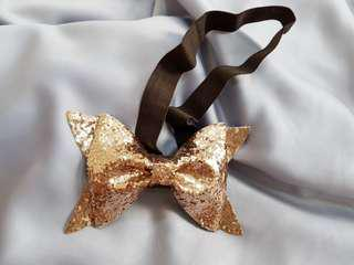 Baby Girl Headband - Brown Sparkle