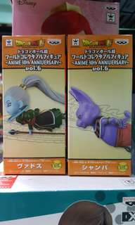 全新 日版 Banpresto 龍珠 超 Dragon Ball Super wcf world collectable figure Anime 30th Anniversary 30週年 vol 6 破壞神 象帕 天使 1對