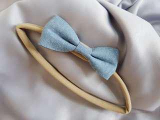 Baby Headband - Blue Bow