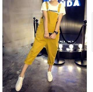 🌹🌹(S~6XL) Plus Size Jumpsuit Long Pants Dungaree Romper Highly RECOMMENDED Extra Large Roll-up