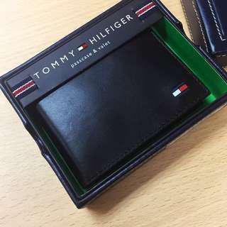 Tommy Hilfiger Wallet 真皮銀包 卡片套 黑色 深藍色 深紅色 男裝銀包 女裝銀包 生日禮物 免順豐運費