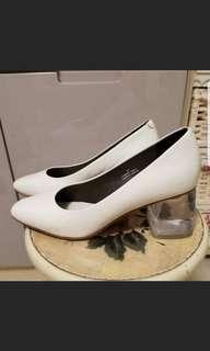 真皮透明高踭鞋