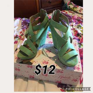 Green wedges size6