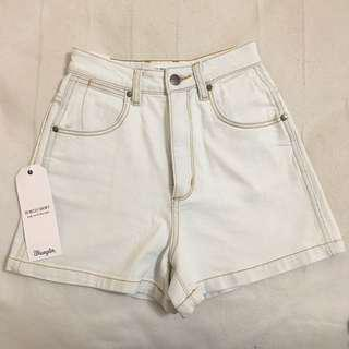WRANGLER Pale Blue High Waisted Shorts