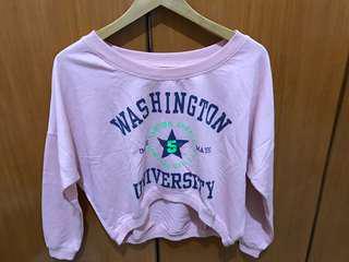 washington pink sweater